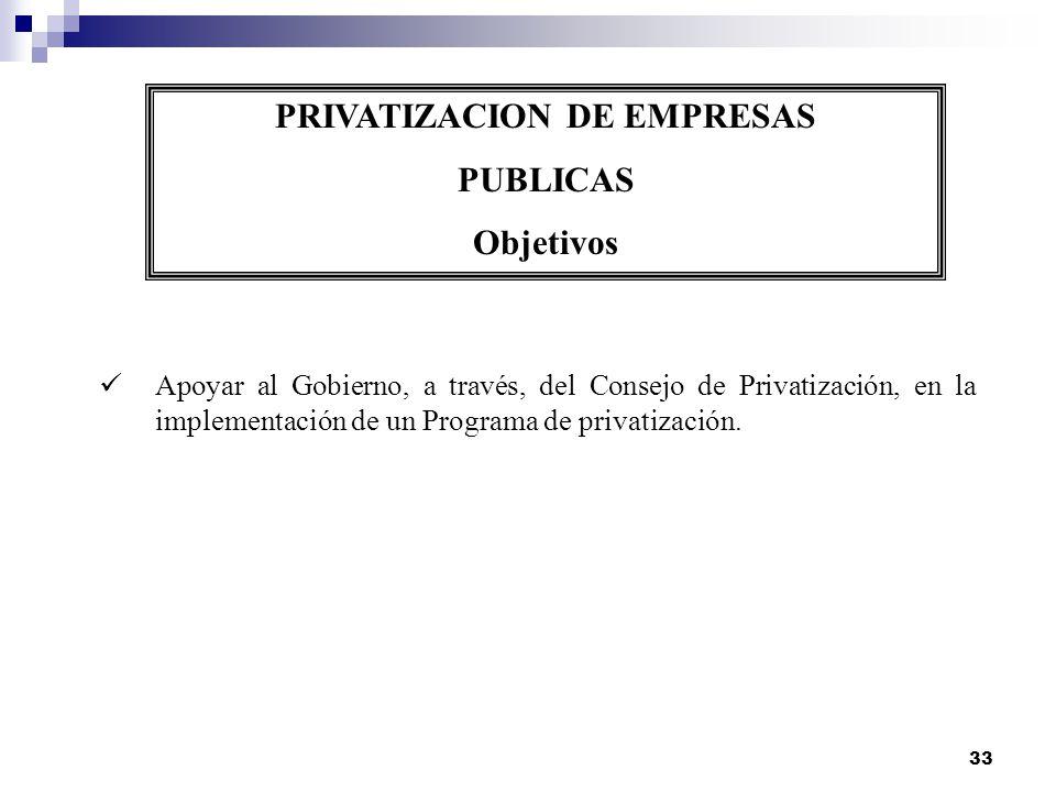 PRIVATIZACION DE EMPRESAS