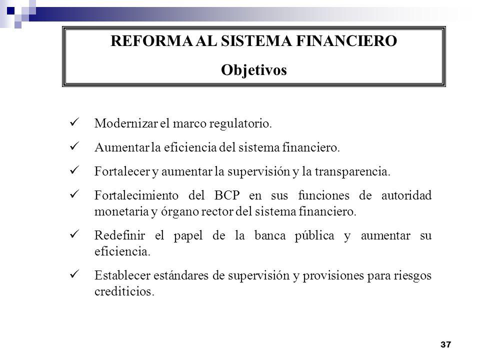 REFORMA AL SISTEMA FINANCIERO