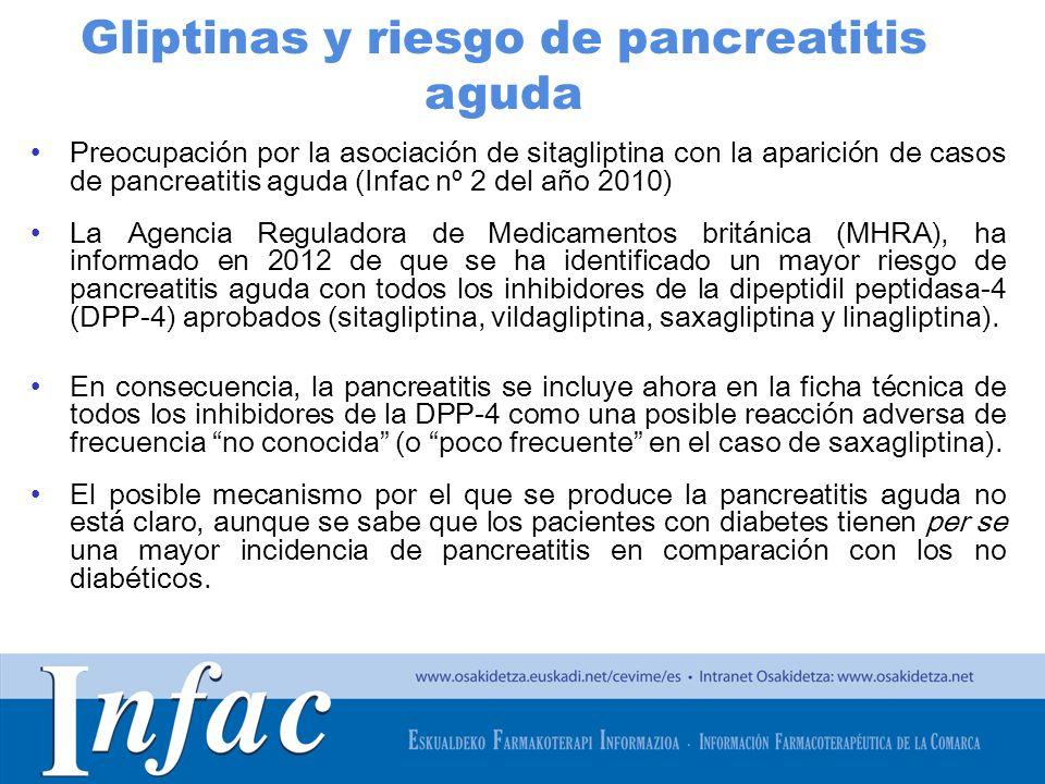 Gliptinas y riesgo de pancreatitis aguda