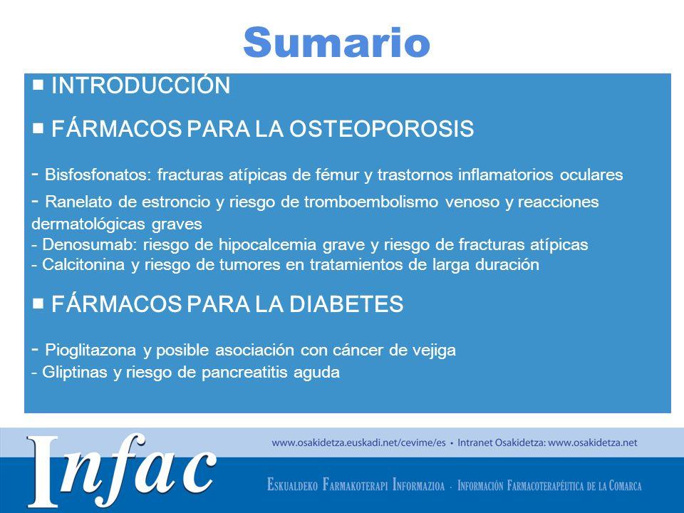 Sumario ■ INTRODUCCIÓN ■ FÁRMACOS PARA LA OSTEOPOROSIS