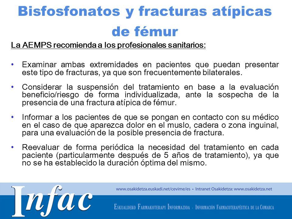 Bisfosfonatos y fracturas atípicas de fémur