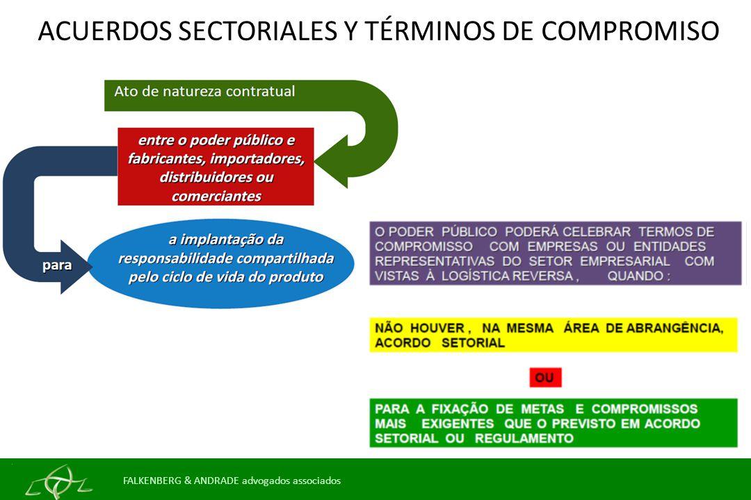 ACUERDOS SECTORIALES Y TÉRMINOS DE COMPROMISO