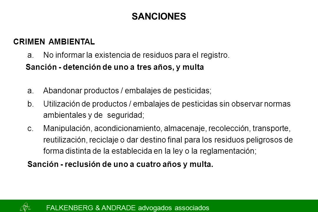 SANCIONES CRIMEN AMBIENTAL