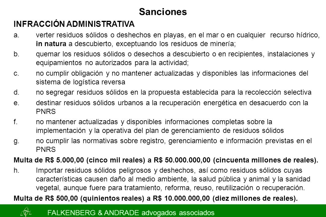 Sanciones INFRACCIÓN ADMINISTRATIVA