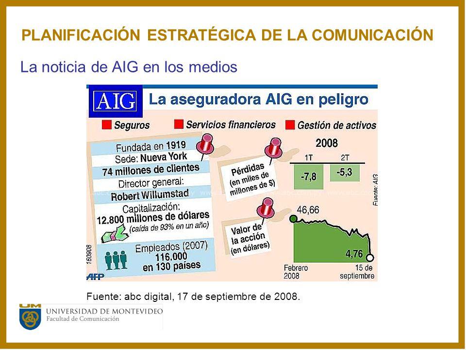 PLANIFICACIÓN ESTRATÉGICA DE LA COMUNICACIÓN