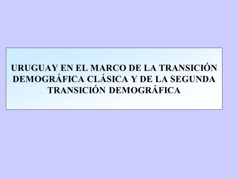 URUGUAY EN EL MARCO DE LA TRANSICIÓN DEMOGRÁFICA CLÁSICA Y DE LA SEGUNDA TRANSICIÓN DEMOGRÁFICA