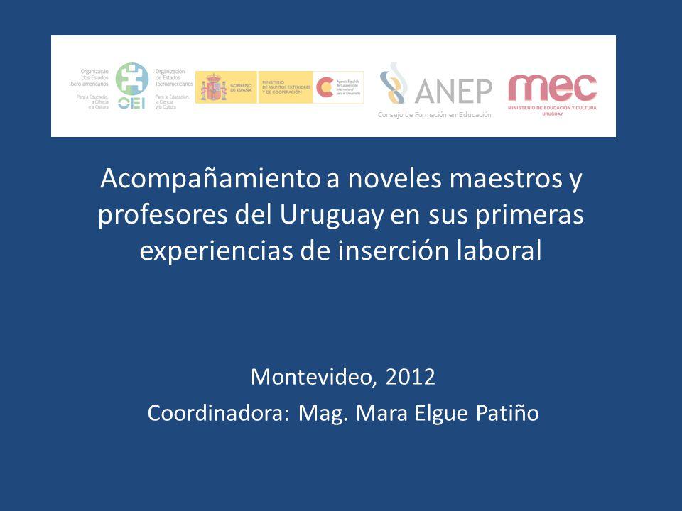 Montevideo, 2012 Coordinadora: Mag. Mara Elgue Patiño