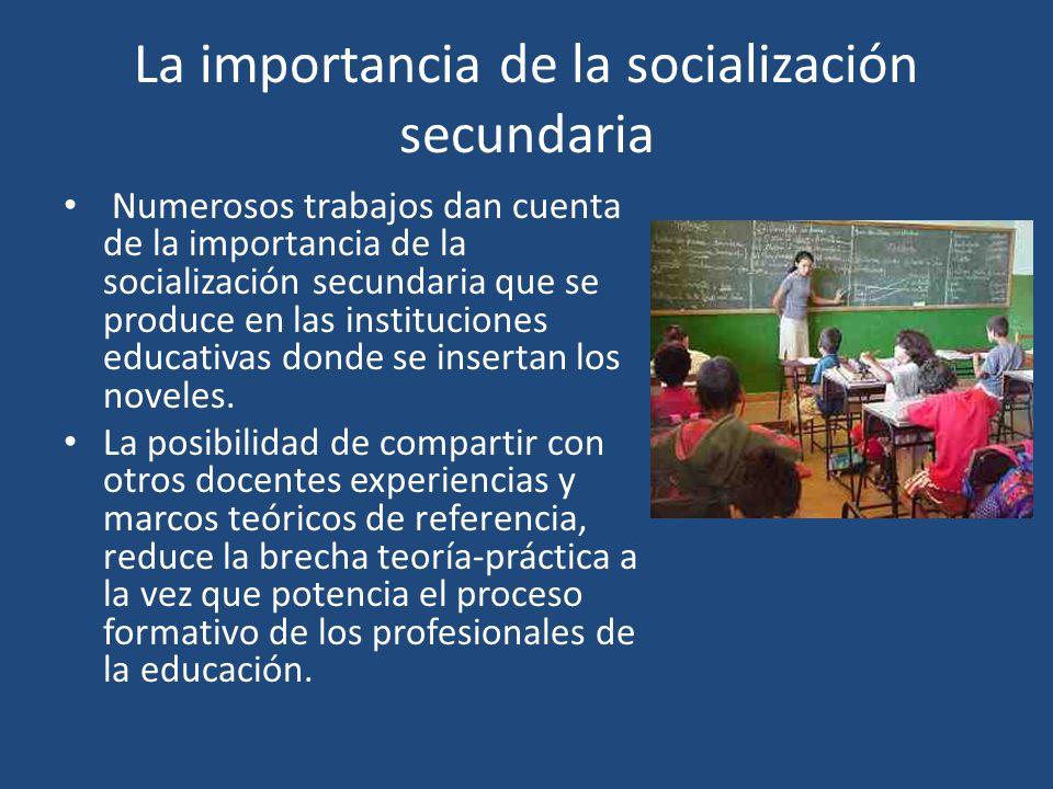La importancia de la socialización secundaria