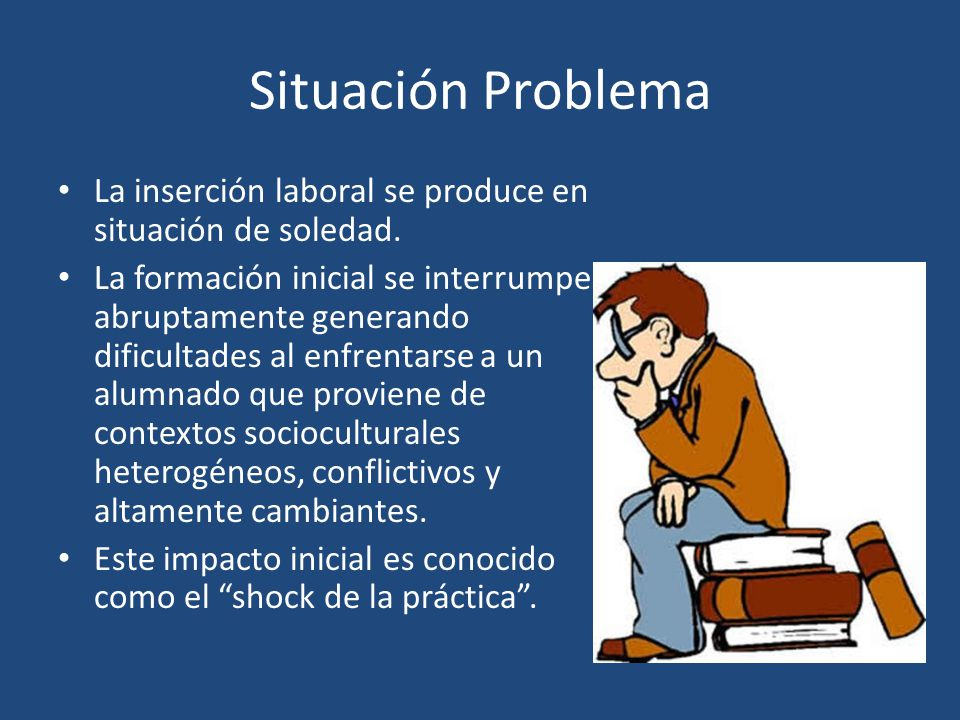 Situación Problema La inserción laboral se produce en situación de soledad.
