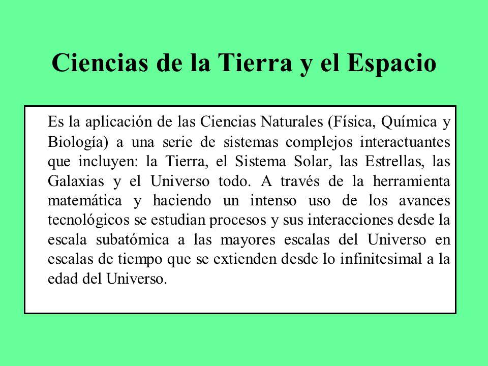 Ciencias de la Tierra y el Espacio