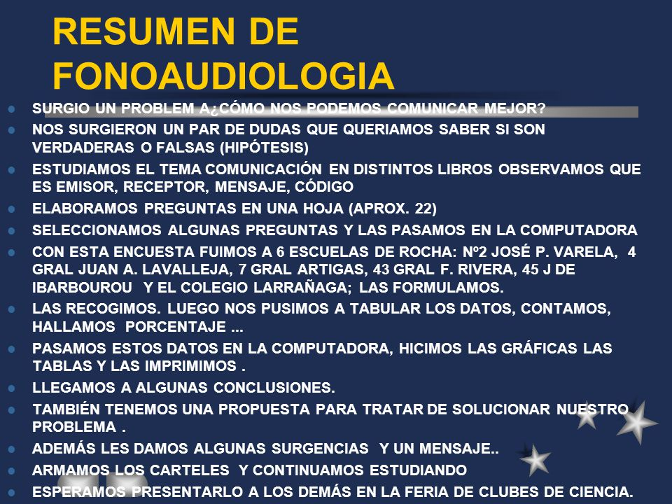 RESUMEN DE FONOAUDIOLOGIA