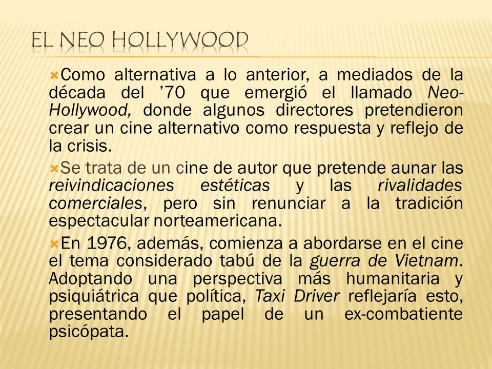 El neo Hollywood