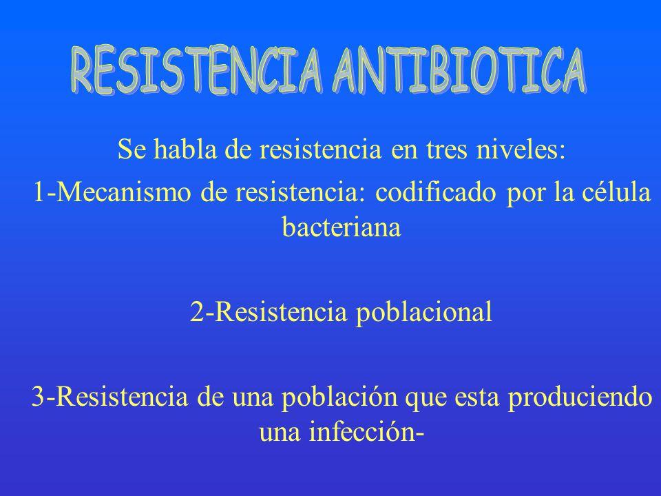 RESISTENCIA ANTIBIOTICA