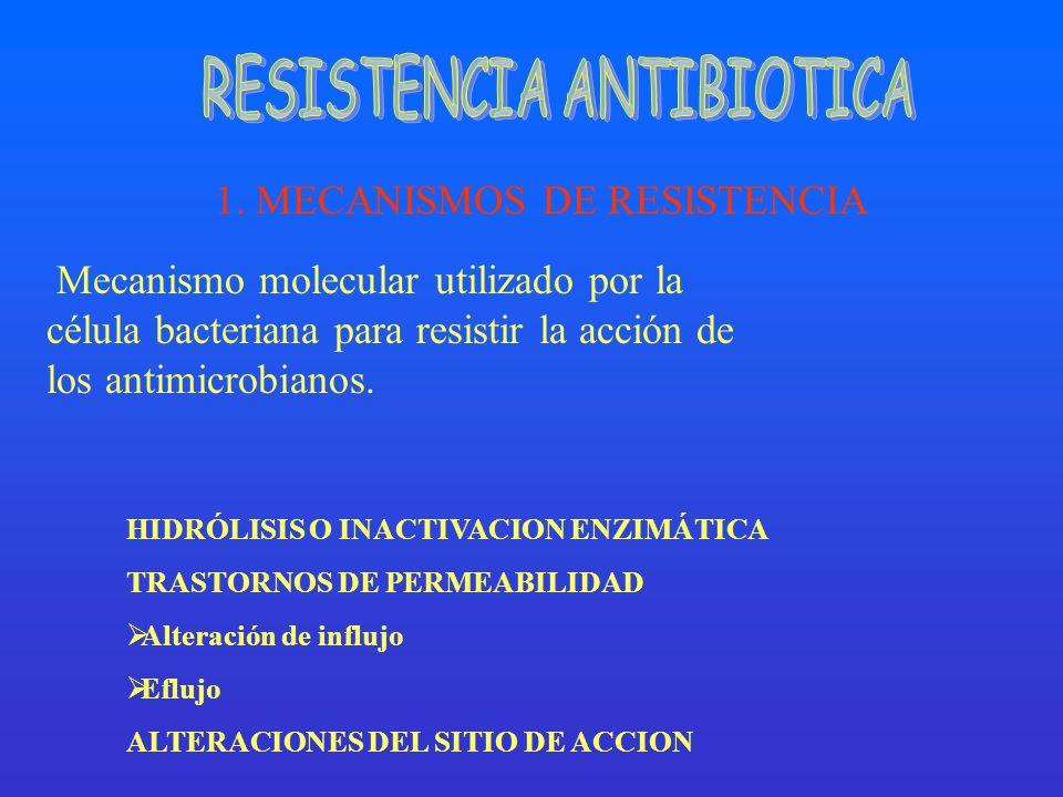1. MECANISMOS DE RESISTENCIA