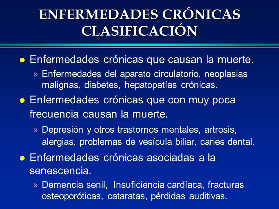 ENFERMEDADES CRÓNICAS CLASIFICACIÓN