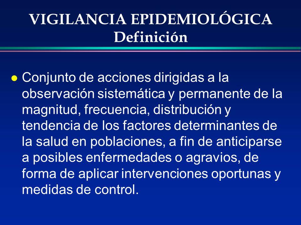 VIGILANCIA EPIDEMIOLÓGICA Definición