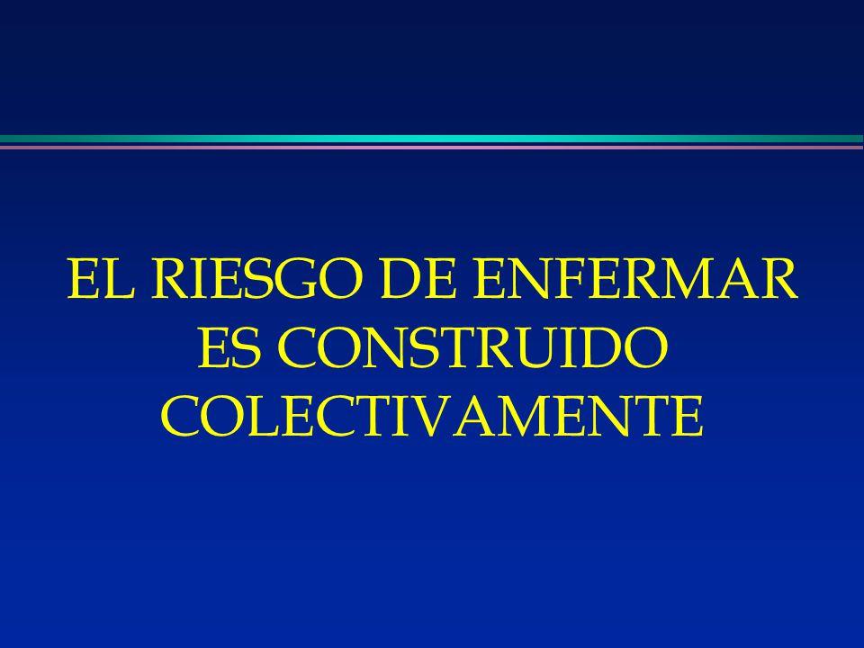 EL RIESGO DE ENFERMAR ES CONSTRUIDO COLECTIVAMENTE