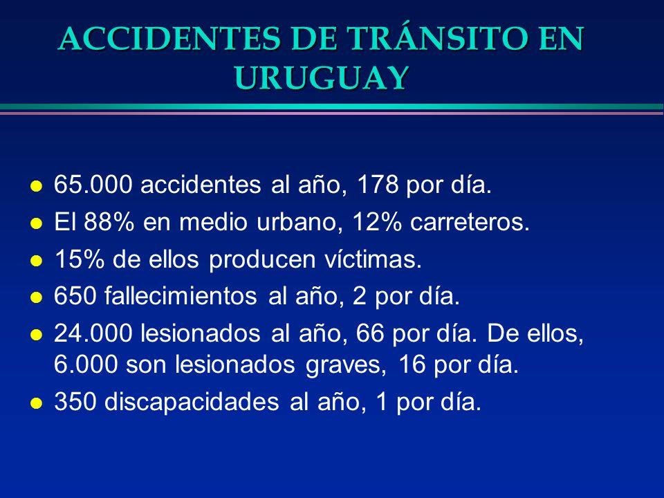 ACCIDENTES DE TRÁNSITO EN URUGUAY