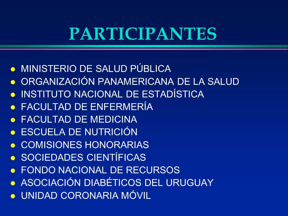 PARTICIPANTES MINISTERIO DE SALUD PÚBLICA