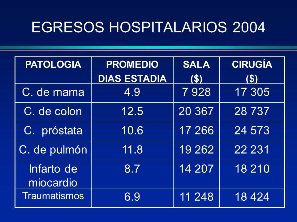 EGRESOS HOSPITALARIOS 2004