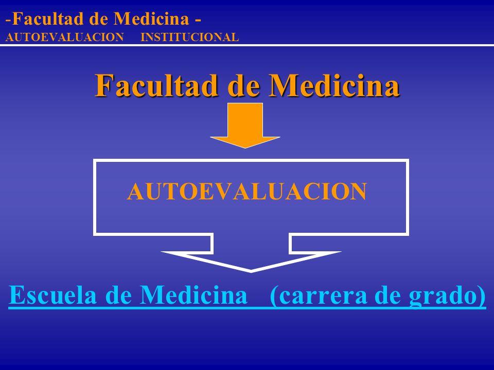 Facultad de Medicina - AUTOEVALUACION INSTITUCIONAL