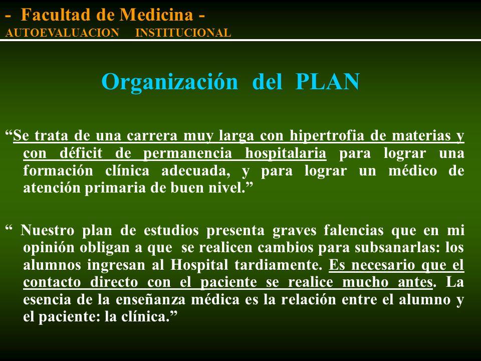 Organización del PLAN