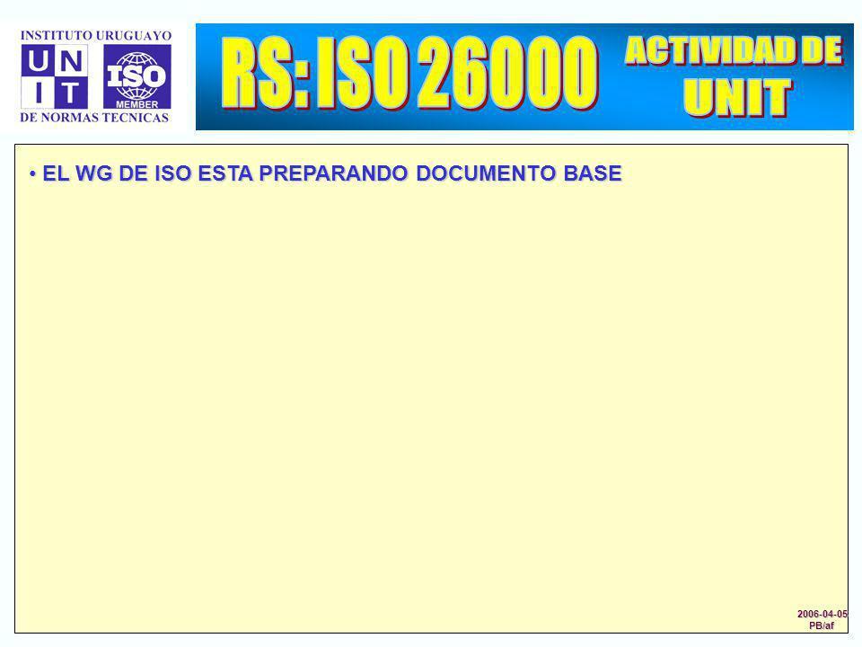 RS: ISO 26000 ACTIVIDAD DE UNIT