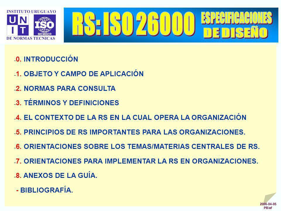 RS: ISO 26000 ESPECIFICACIONES DE DISEÑO