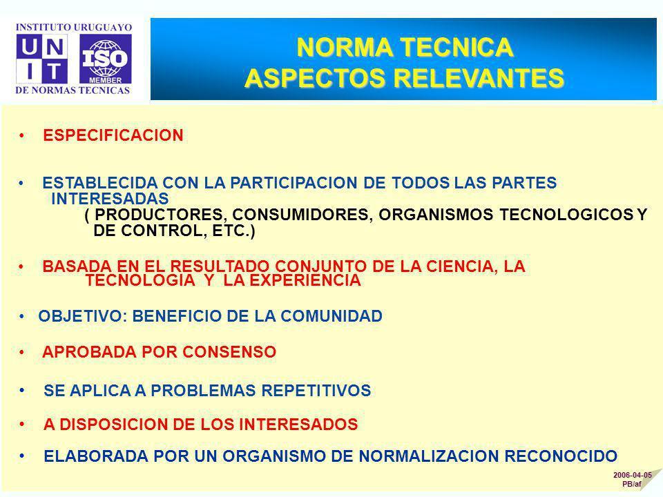 NORMA TECNICA ASPECTOS RELEVANTES
