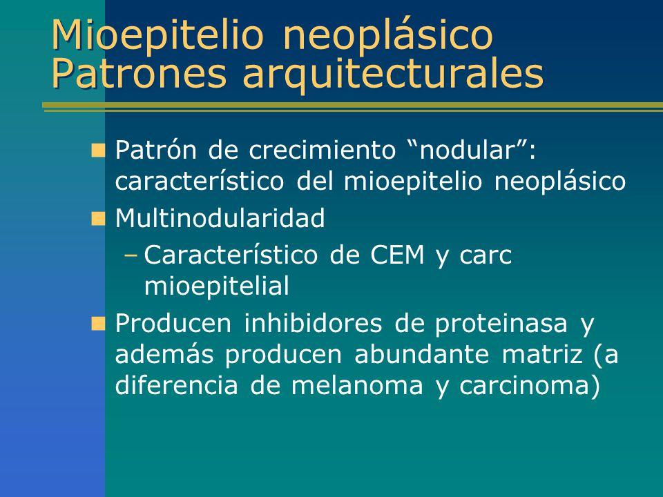 Mioepitelio neoplásico Patrones arquitecturales