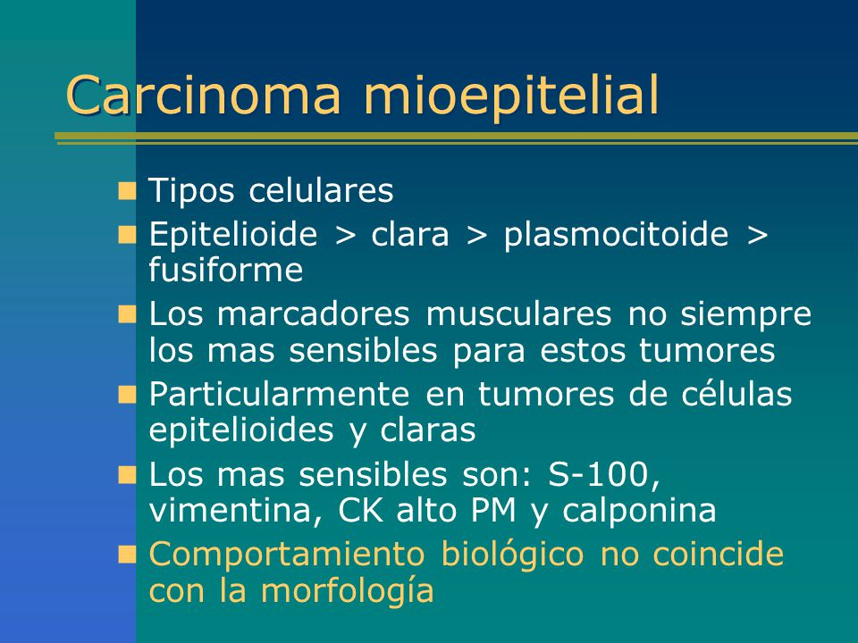 Carcinoma mioepitelial