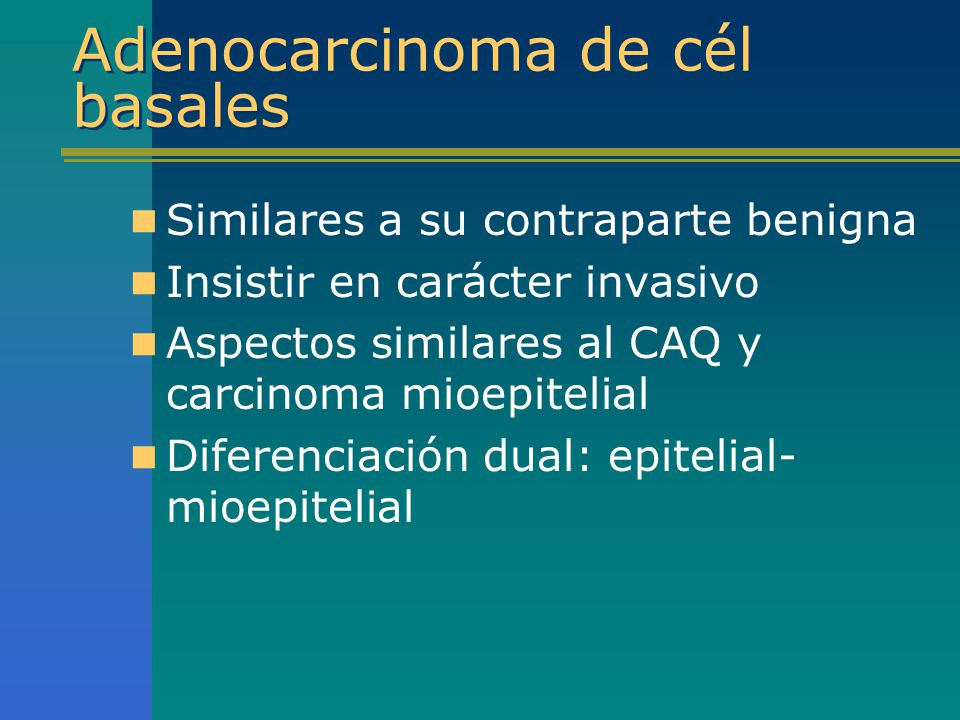 Adenocarcinoma de cél basales