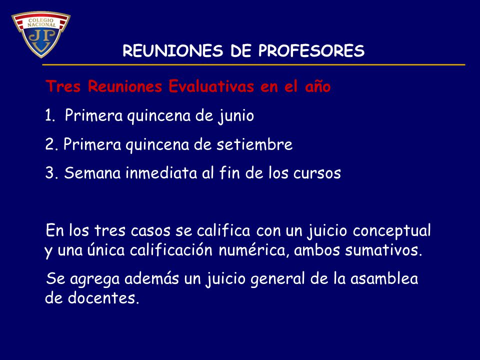 REUNIONES DE PROFESORES