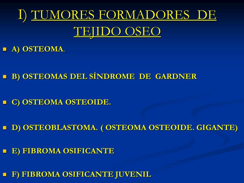 I) TUMORES FORMADORES DE TEJIDO OSEO