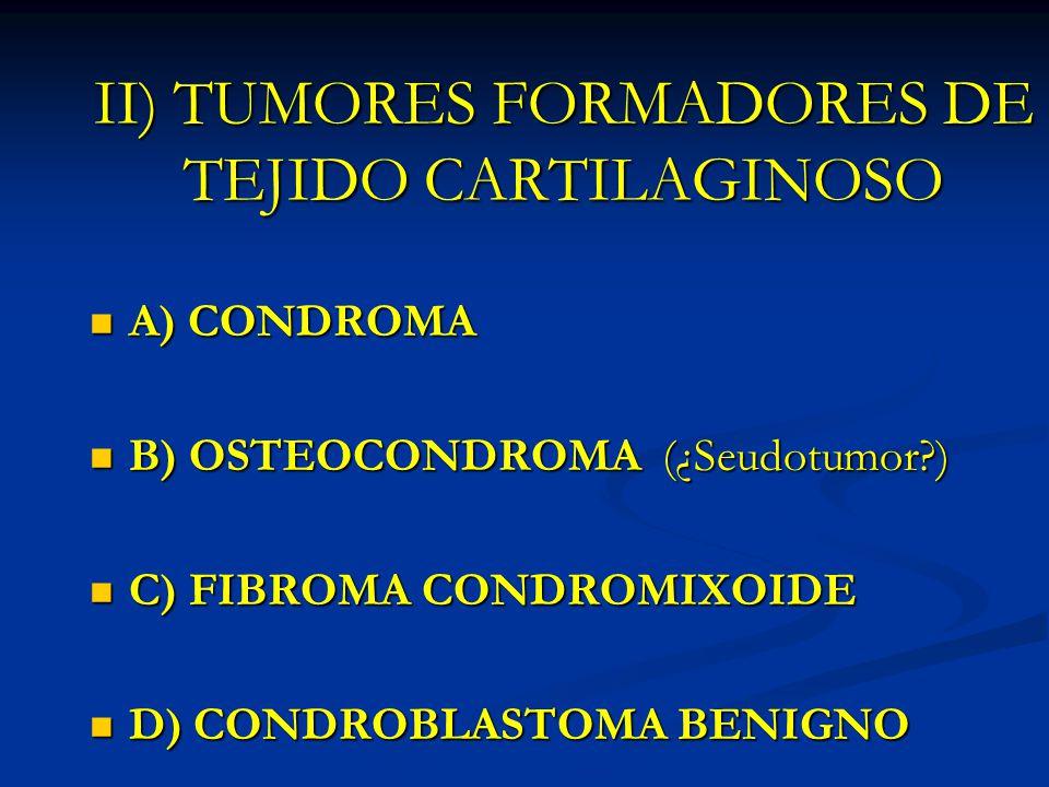 II) TUMORES FORMADORES DE TEJIDO CARTILAGINOSO