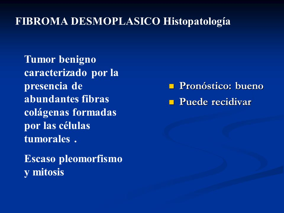 FIBROMA DESMOPLASICO Histopatología