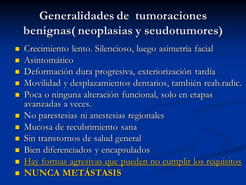 Generalidades de tumoraciones benignas( neoplasias y seudotumores)