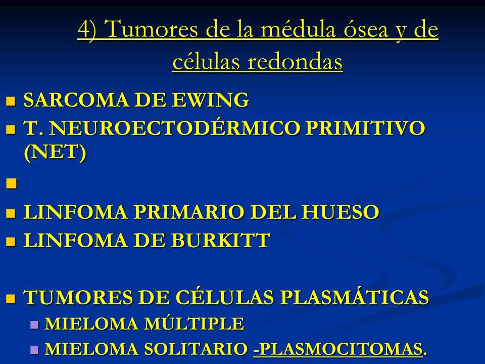 4) Tumores de la médula ósea y de células redondas
