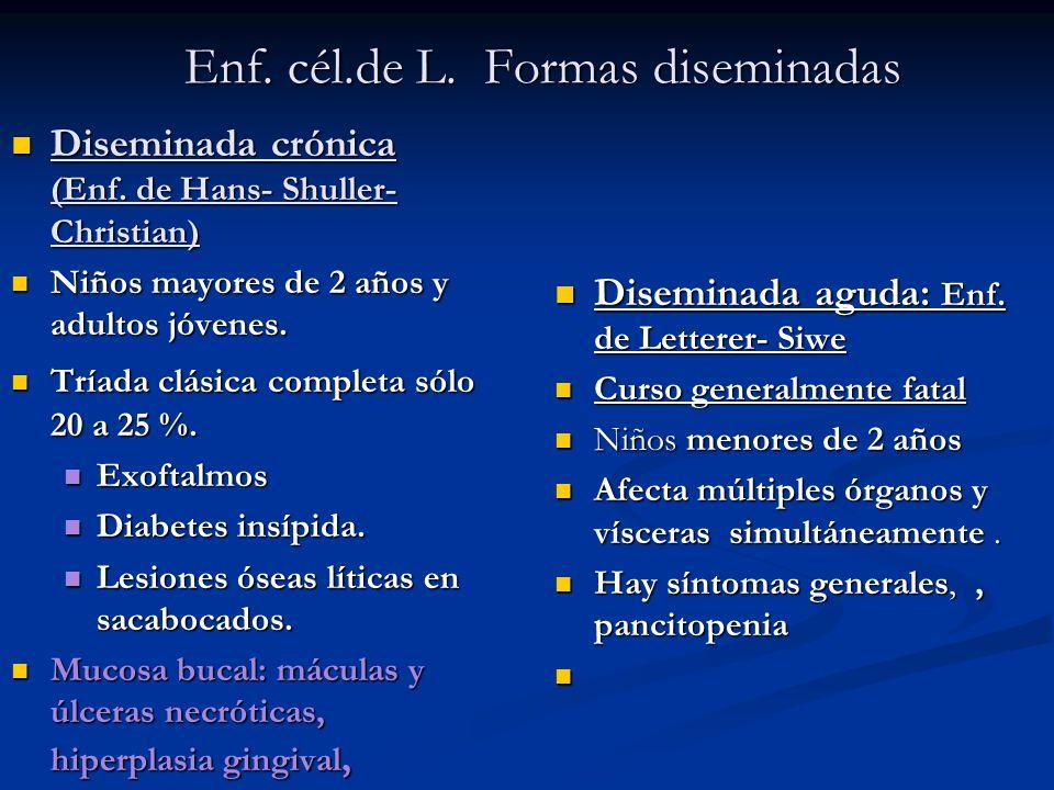 Enf. cél.de L. Formas diseminadas