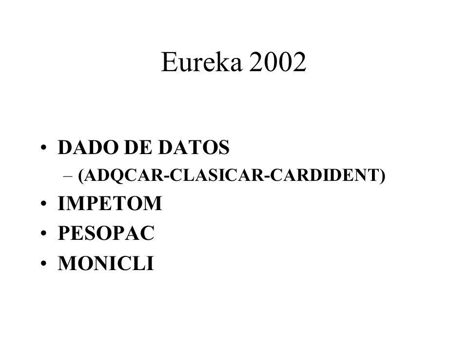 Eureka 2002 DADO DE DATOS IMPETOM PESOPAC MONICLI