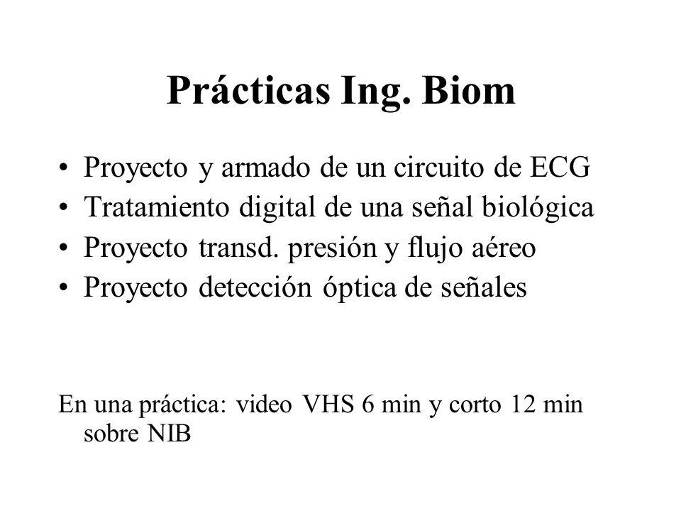 Prácticas Ing. Biom Proyecto y armado de un circuito de ECG