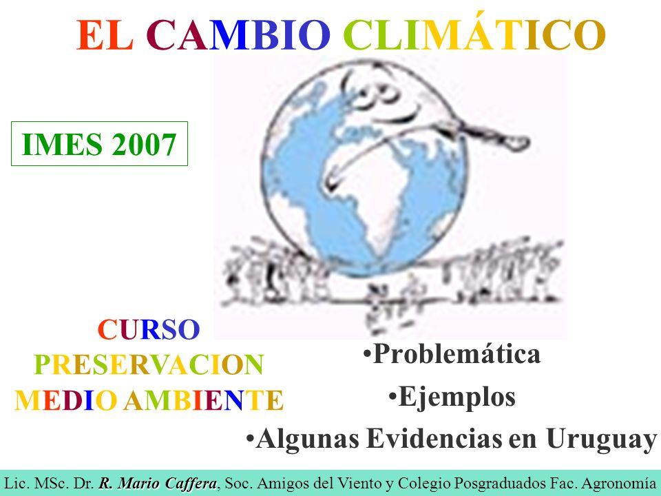 Problemática Ejemplos Algunas Evidencias en Uruguay