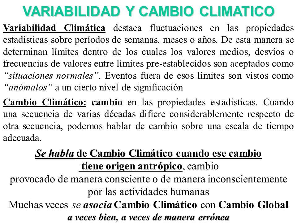VARIABILIDAD Y CAMBIO CLIMATICO