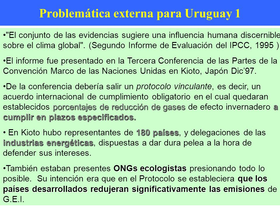 Problemática externa para Uruguay 1