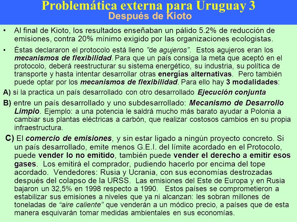 Problemática externa para Uruguay 3 Después de Kioto
