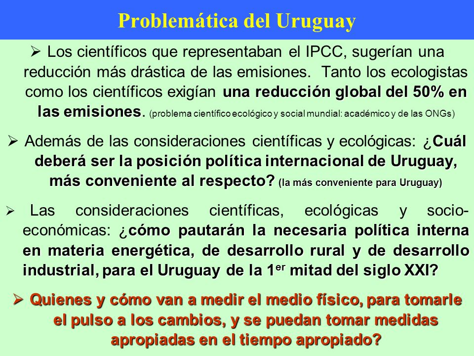 Problemática del Uruguay