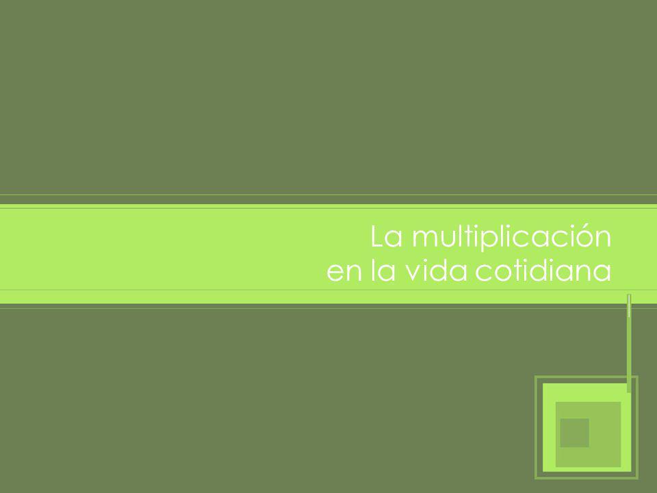 La multiplicación en la vida cotidiana