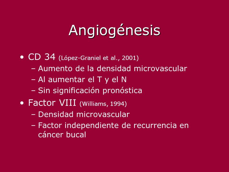 Angiogénesis CD 34 (López-Graniel et al., 2001)