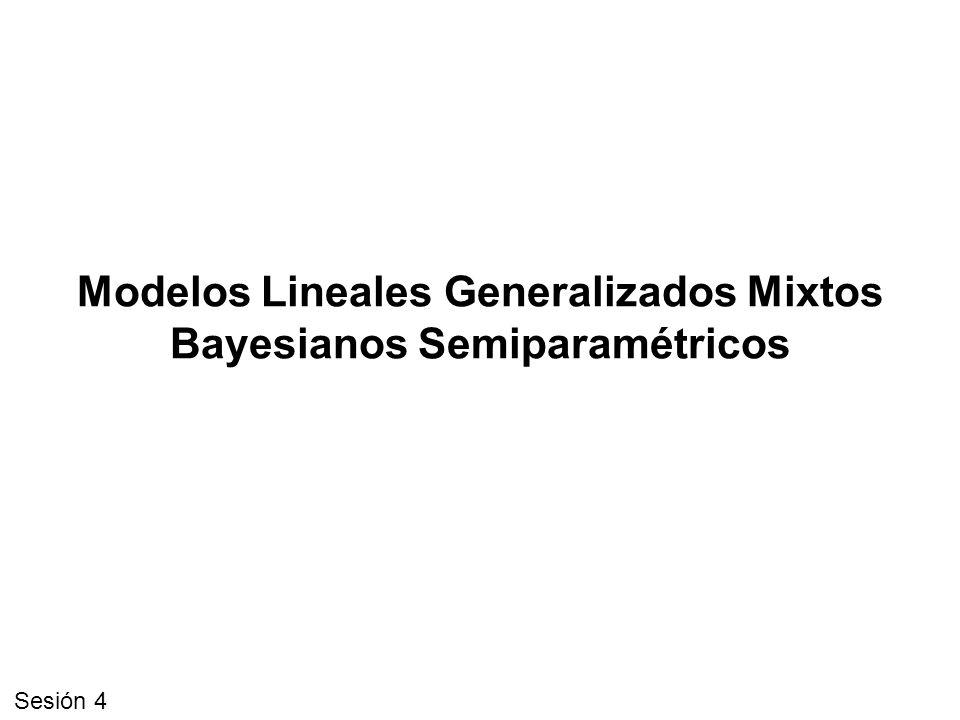 Modelos Lineales Generalizados Mixtos Bayesianos Semiparamétricos