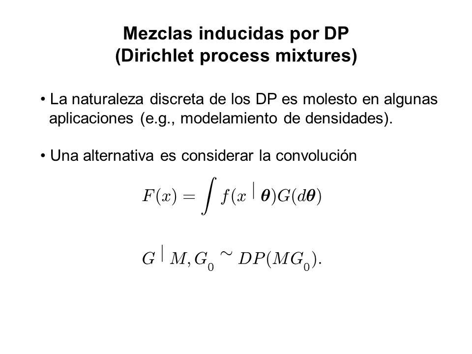 Mezclas inducidas por DP (Dirichlet process mixtures)